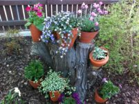 Krukor i tr dg rden pernilla claug Como organizar un jardin grande