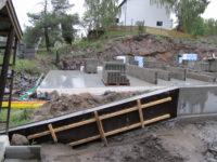 gjuta stödmur betong