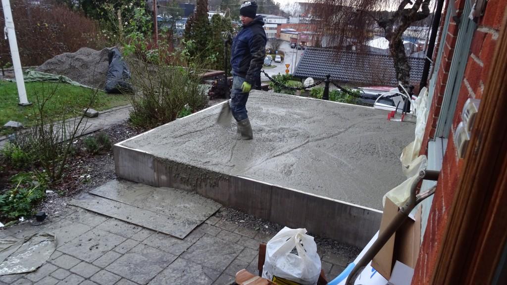 Och så var all betongen på plats