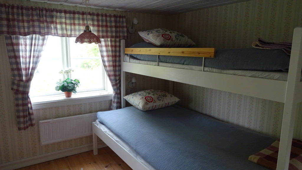 Våningssängen i sovrummet på övervåningen