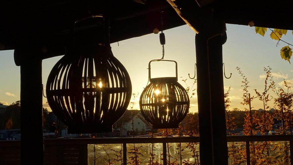 Lampor i motljus